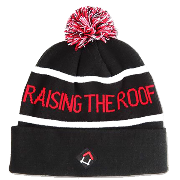 Raising the Roof Pom Pom Toque